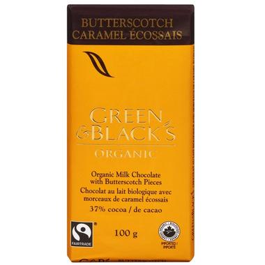 Green & Black\'s Organic Milk Chocolate Butterscotch Bar