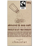 Galerie au Chocolat Almond & Sea Salt Milk Chocolate Bar