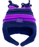 Calikids Fleece Hat Two Tone Plum & Navy