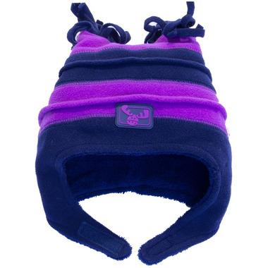 Calikids Fleece Hat Two Tone Plum & Navy