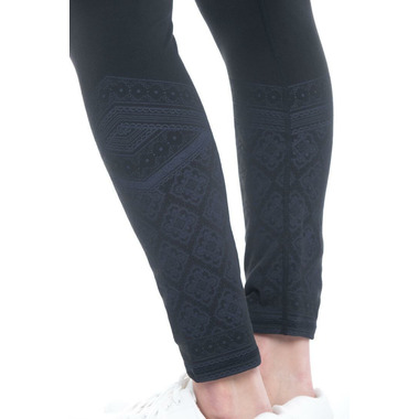 Gaiam Zoey 7/8ths Legging Black with Placement Print