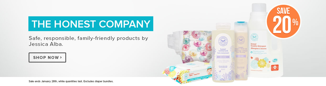 Save 20% off The Honest Company