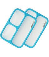 o bnto Bento Box 3 Compartment Blue Value Pack