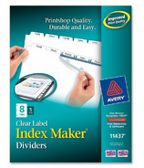 Avery Index Maker Clear Label Divider with Tabs