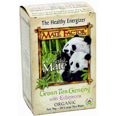 Mate Factor Yerba Mate Organic Green Tea Ginseng