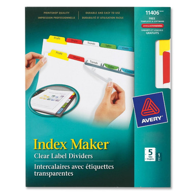 Avery Index Maker Label Divider with Color Tabs