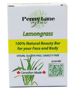 Penny Lane Organics 100% Natural Beauty Bar Lemongrass