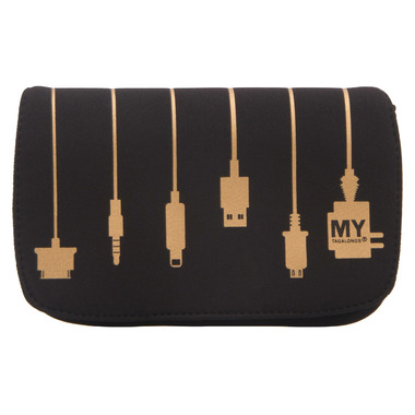 MYTAGALONGS Plug In Metallic Charger Case