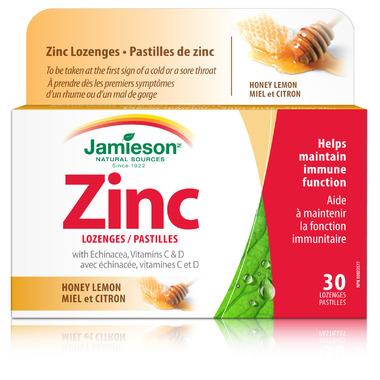 Jamieson Zinc Lozenges with Vitamin C and Echinacea