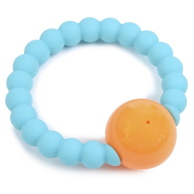 Chewbeads Baby Mercer Rattle Turquoise