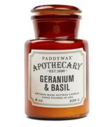 Paddywax Apothecary Candle Geranium & Basil