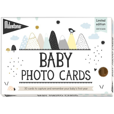 Milestone Baby Photo Cards Over the Moon