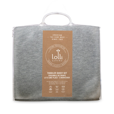 Lolli Living Toddler Sheet Set Grey Marl Jersey