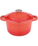 BergHOFF Neo 3 Quart Cast Iron Round Covered Dutch Oven Orange