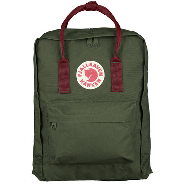 Fjallraven Kanken Backpack Forest Green & Ox Red