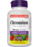 Webber Naturals Chromium Chelate Tablets