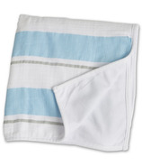 Lulujo Baby My Childhood Blanket Blue Bold Stripe