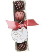 Saxon Chocolates Dark and Pink Chocolate Champagne Truffle Box