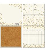 WallPops Gold Confetti Dry Erase Organization Kit