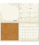 WallPops Gold Confetti Dry Erase Organization Kit