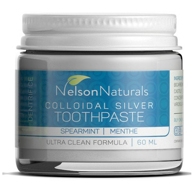 Nelson Naturals Colloidal Silver Remineralizing Toothpaste Spearmint