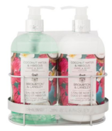 Brompton & Langley Coconut Water Hibiscus Lotion & Body Wash Cady Set