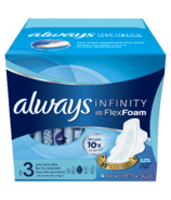 Always Infinity Size 3 Extra Heavy Flow Pads with Wings