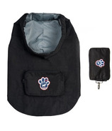 Canada Pooch Pacific Poncho in Black Sized 10-20