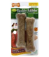 Nylabone Healthy Edibles Roast Beef Petite Size Twin Pack