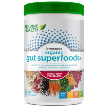 Genuine Health Fermented Organic Gut Superfoods+ Summer Berry-Pomegranate