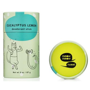 meow meow tweet Deodorant Stick Lemon Eucalyptus