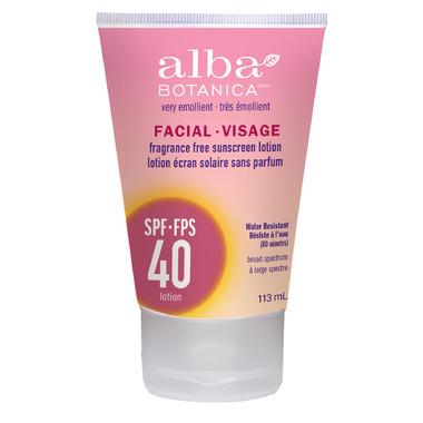 Alba Botanica Very Emollient Facial Sunscreen SPF 40