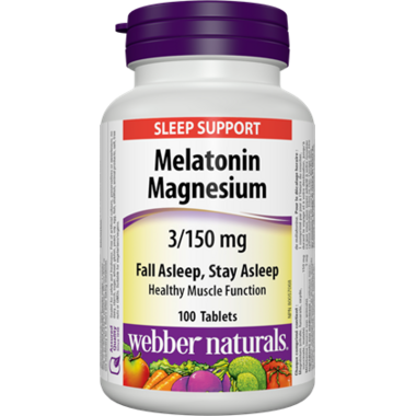 Webber Naturals Melatonin & Magnesium 3/150 mg