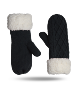 Pudus Mittens Cable Knit Grey One Size