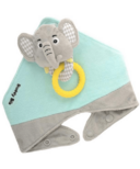 Buddy Bib 3-in-1 Sensory Teething Toy & Bib Elephant