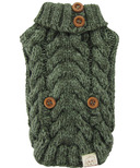 FouFou Dog Aspen Knit Sweater Olive