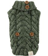 FouFou Dog Aspen Knit Sweater Olive
