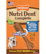 Nutri Dent Complete Dental Chews Filet Mignon Small Size 28 Count