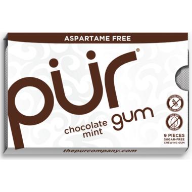 PUR Sugar-Free Gum Chocolate Mint