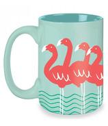 Kitsch'n Glam Flamingo Mug in Mint