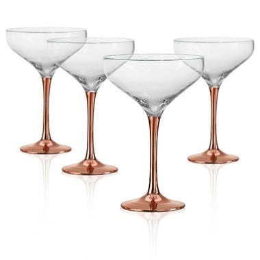 Artland Coppertino Cocktail Coupe Glasses
