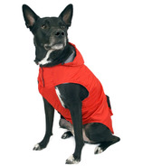 Canada Pooch Pacific Poncho in Red Sizes 10-20