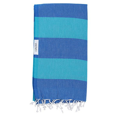 Lualoha Turkish Towel Buddhaful Blue & Aqua