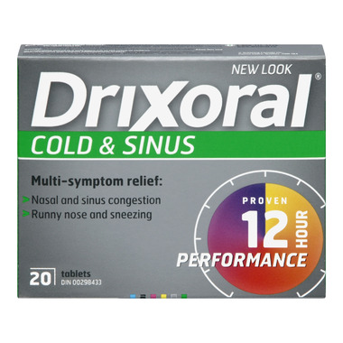Drixoral Cold & Sinus 12 Hour Performance Tablets