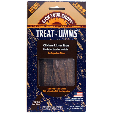 Buy Lick Your Chops Treat-Umms Chicken & Liver Strips Dog
