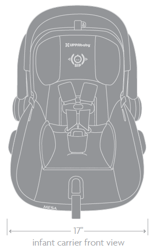 Buy UPPAbaby Mesa Infant Car Seat Henry Blue Marl from ...