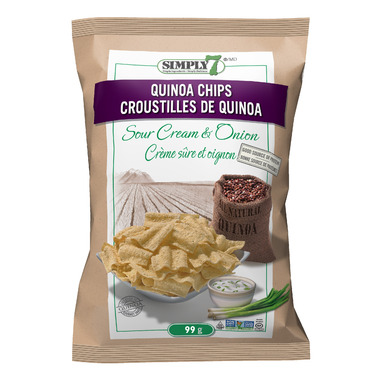 Simply7 Sour Cream & Onion Quinoa Chips