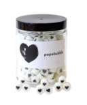 papabubble Black & White Heart Mix Jar