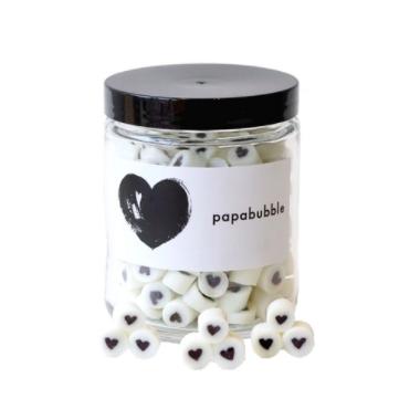 papabubble Black & White Heart Mix Jar