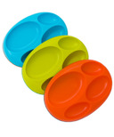 Boon Edgeless Saucer Stay-Put Divided Plates